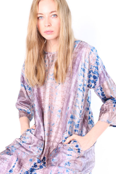 100% SILK HANDMADE BATIK DRESS MARTHA - MOMO NEW YORK