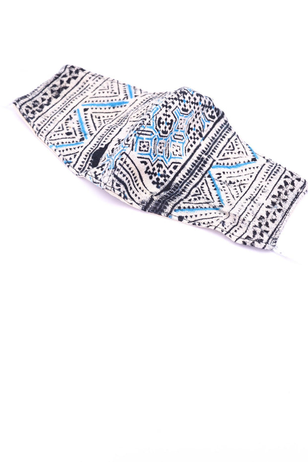 BATIK COTTON HEMP LIMITED EDITION FACE MASK PINIDA MOMO NEW YORK