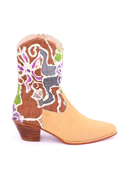 BATIK HEMP LEATHER BOOTS ALY - MOMO NEW YORK