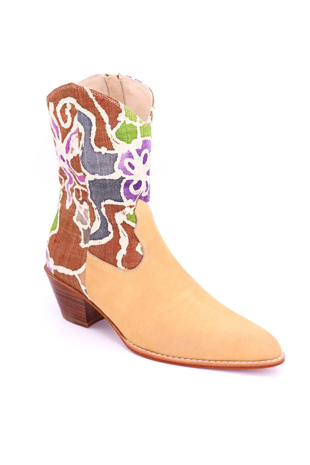 BATIK LEATHER BOOTS ALLY - MOMO NEW YORK