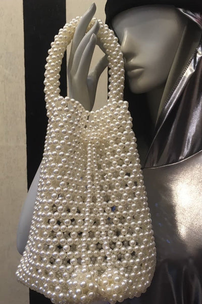 Beaded Bucket Bag Alexa MOMONEWYORK