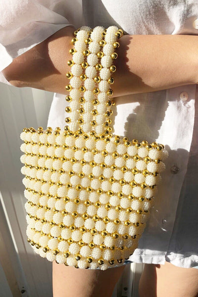 Beaded Influencer Bag Maja MOMONEWYORK