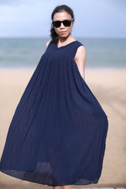 BLUE SLEEVELESS DRESS ARINA MOMO NEW YORK