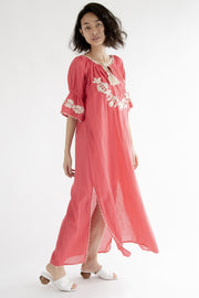 Boho Chic Embroidered Kaftan Dress Cives MOMONEWYORK