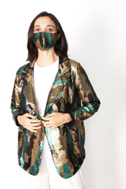 CAMOUFLAGE SEQUIN JACKET BLAZER DUMA - MOMO NEW YORK