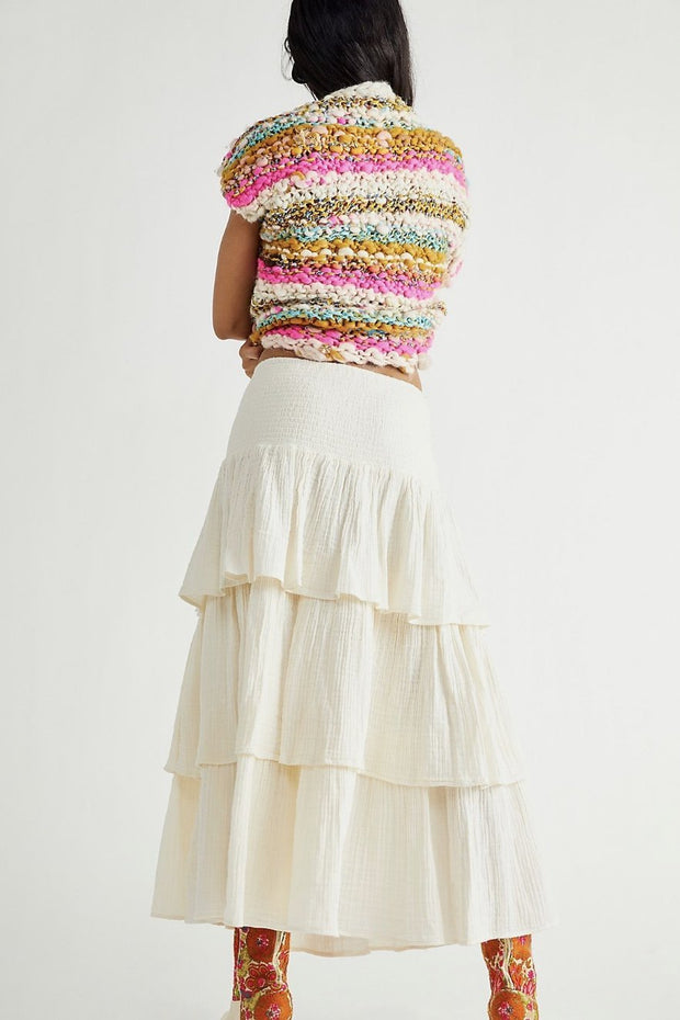CAN'T STOP THE SPRING TIERED MAXI SKIRT - MOMO NEW YORK