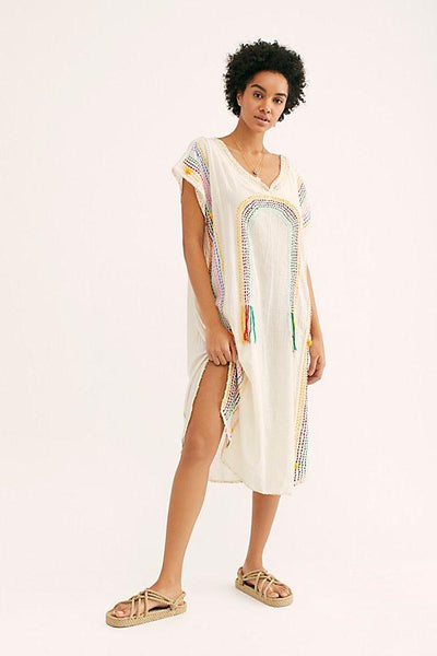 CHASING RAINBOW EMBROIDERED KAFTAN X FREE PEOPLE - MOMO NEW YORK