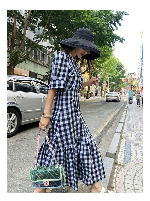 CHECKER DRESS DEAR DIANE - MOMO NEW YORK