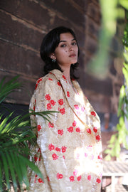 Chinese Flower Silk Embroidered Jacket Pia MOMONEWYORK