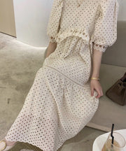 COTTON LACE DRESS SAMMY MOMO NEW YORK