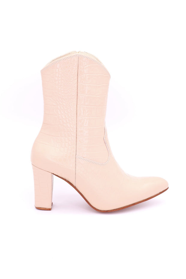 CROC EMBOSSED BOOTS EBBA - MOMO NEW YORK