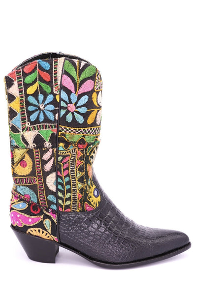 CROC EMBOSSED WESTERN BOOTS OZZY MOMO NEW YORK.