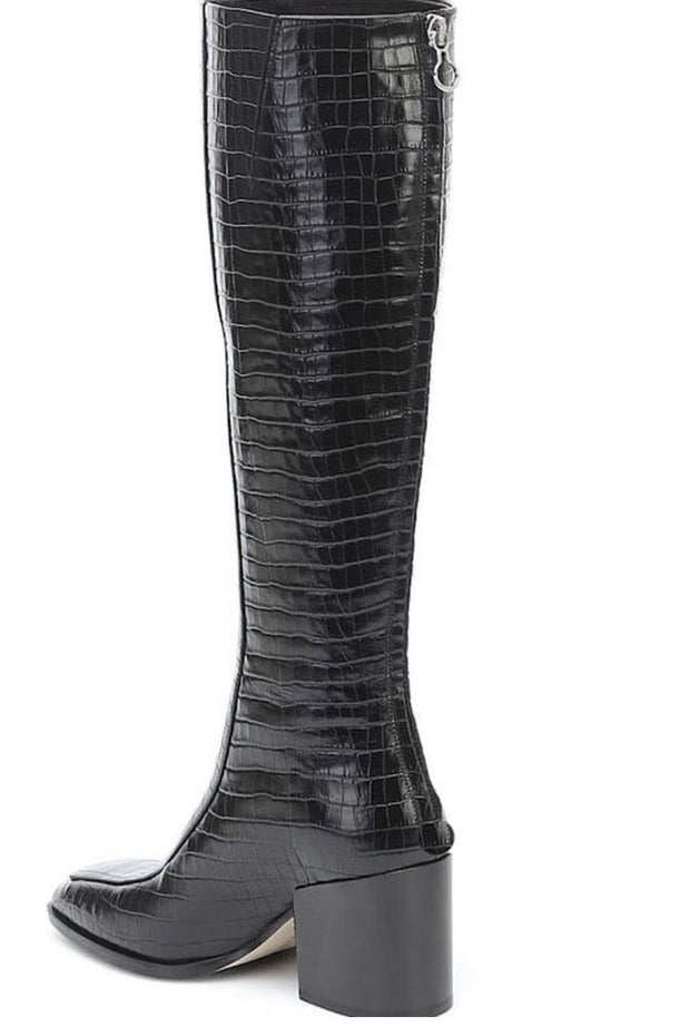 CROCODILE EMBOSSED TALL BOOTS LENNA - MOMO NEW YORK