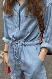 DENIM JUMPSUIT OLGA - MOMO NEW YORK