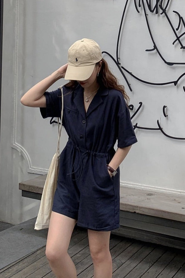 DRAWSTRING JUMPSUIT MIRU - MOMO NEW YORK
