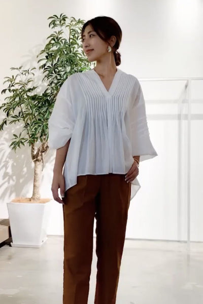 EASY TO WEAR COTTON TOP SUZAN MOMO NEW YORK