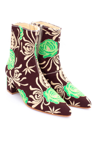EMBROIDERED ANKLE BOOTS HEANA - MOMO NEW YORK