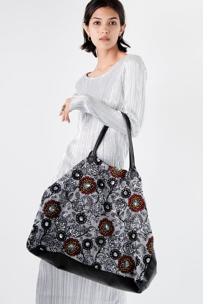 Embroidered Boho Chiffon Silk Embroidery Bag Virun MOMONEWYORK