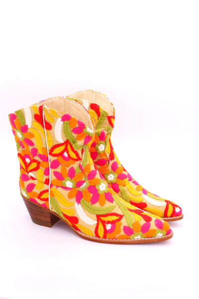 EMBROIDERED BOOTS MARIE - MOMO NEW YORK