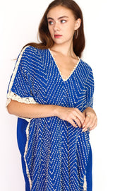 EMBROIDERED CROCHET STITCH KAFTAN MALIA - MOMO NEW YORK