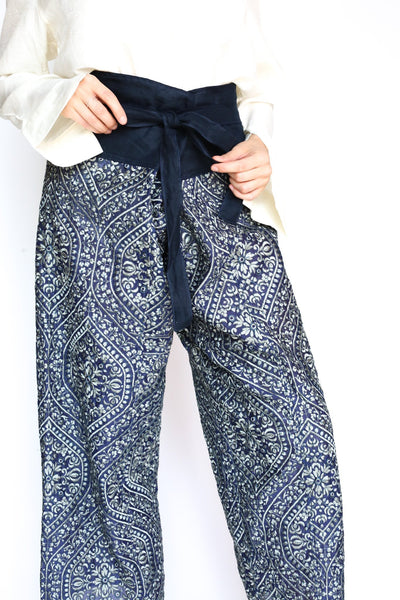 EMBROIDERED CROP FISHERMAN TROUSERS WILAI - MOMO NEW YORK