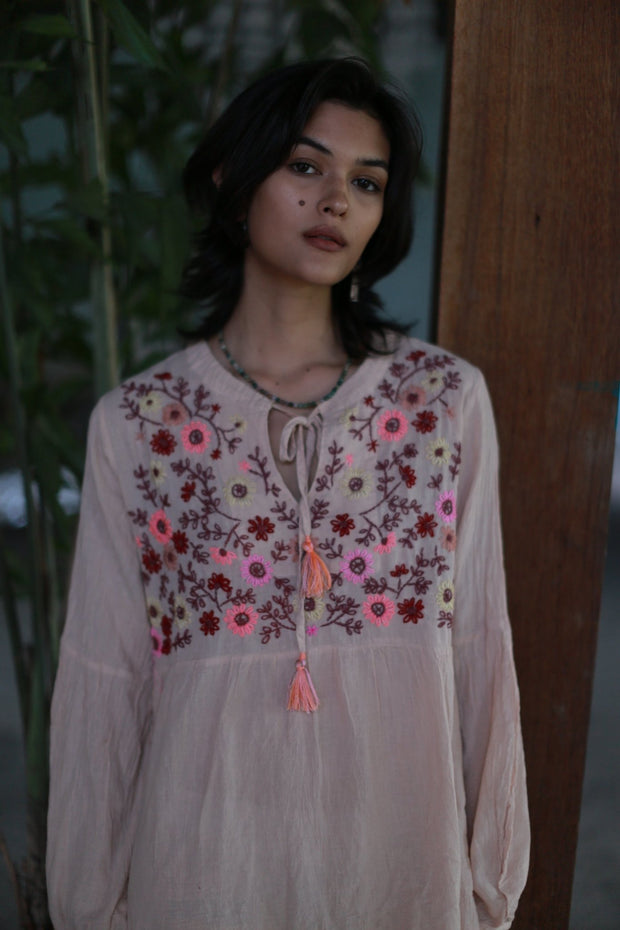 EMBROIDERED DRESS MALIKA MOMO NEW YORK