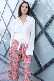EMBROIDERED FISHERMAN TROUSER PANTS LISA - MOMO NEW YORK