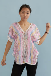 EMBROIDERED KAFTAN TOP SANDY MOMO NEW YORK
