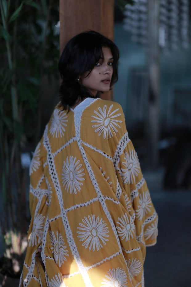 EMBROIDERED KIMONO DUSTER MAIGRET MOMO NEW YORK