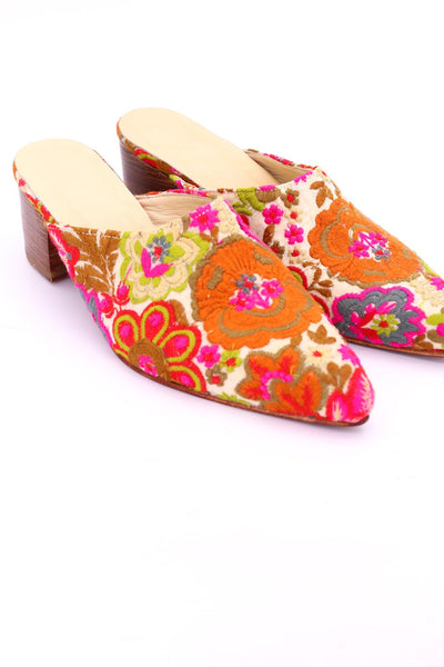 EMBROIDERED MULES LAVINIA - MOMO NEW YORK