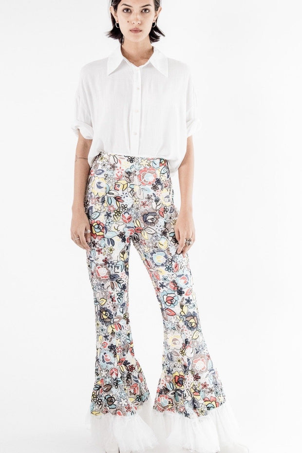 EMBROIDERED PANTS SANDY MOMO NEW YORK