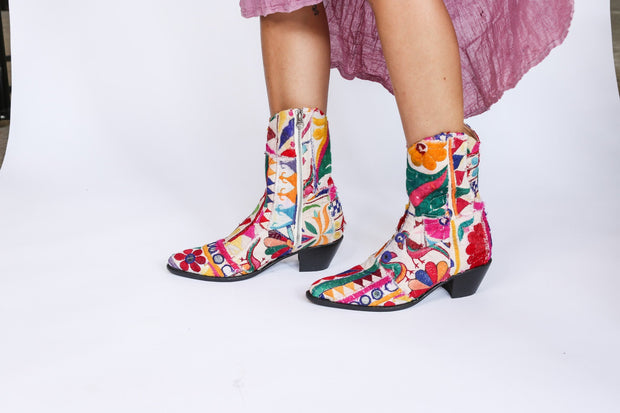 Embroidered Patchwork Boots GINALYN MOMONEWYORK