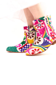 Embroidered Patchwork Boots Romy - MOMO NEW YORK