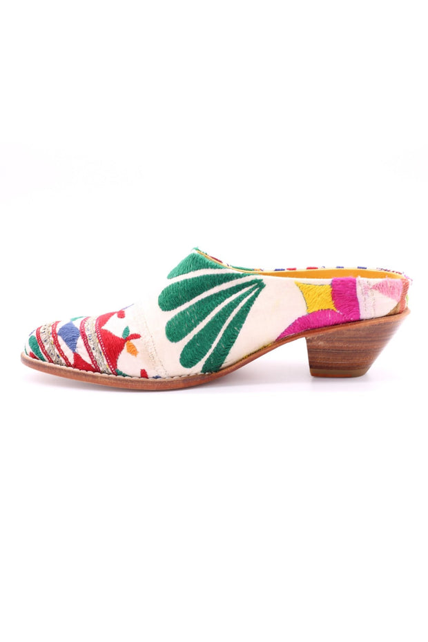 EMBROIDERED PATCHWORK MULES KONSTANZE MOMO NEW YORK
