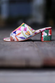 EMBROIDERED PATCHWORK MULES LULU MOMO NEW YORK