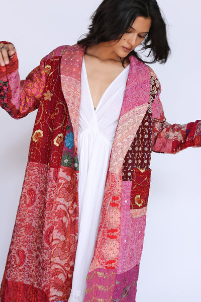 Embroidered Patchwork Robe Jacket Samira MOMONEWYORK
