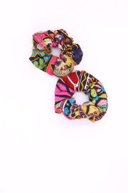 EMBROIDERED PATCHWORK SCRUNCHIE GIVA - MOMO NEW YORK
