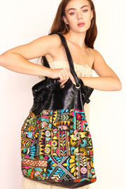 EMBROIDERED PATCHWORK XL BAG TOEY - MOMO NEW YORK