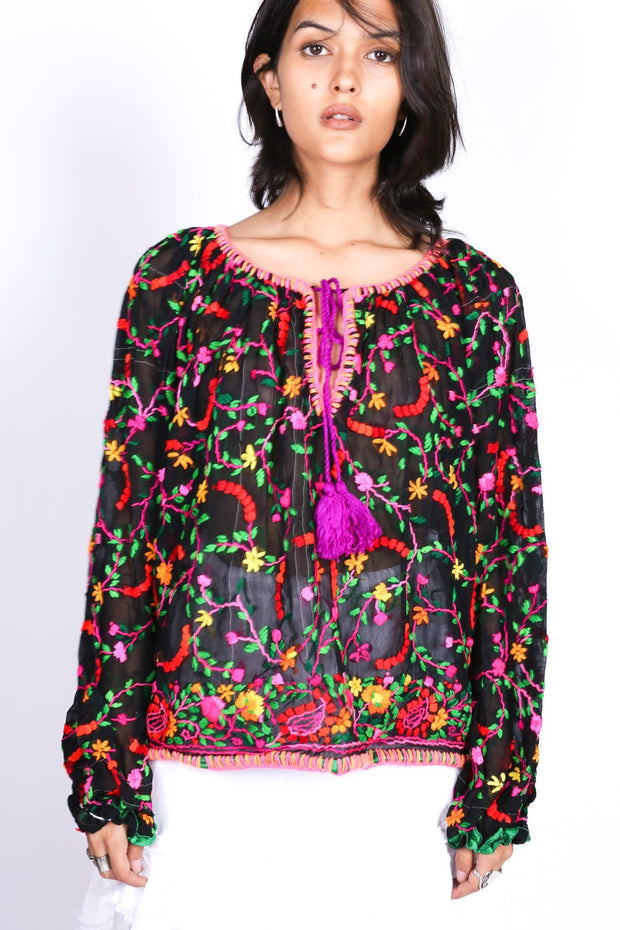 EMBROIDERED TOP IMELDA MOMO NEW YORK