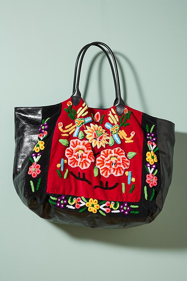 Embroidered Velvet Bag Danny MOMONEWYORK