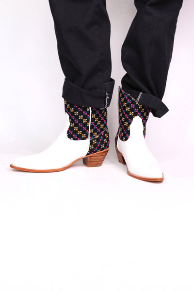 EMBROIDERED WESTERN BOOTS FRANIA - MOMO NEW YORK