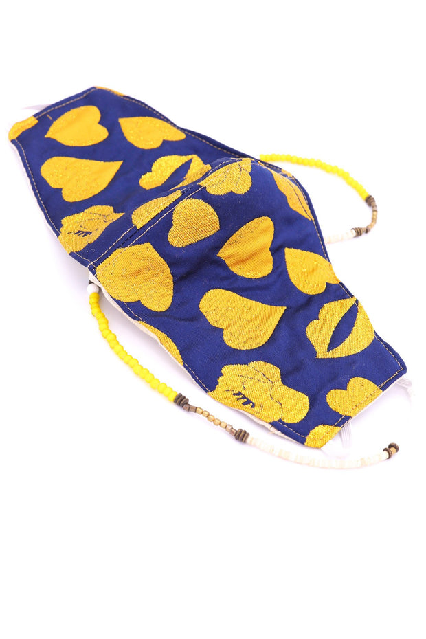 FACE MAK MARILYN HEART KISS (BLUE/YELLOW) - MOMO NEW YORK