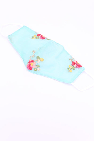FACE MASK YUKINA EMBROIDERED SILK COTTON MOMO NEW YORK