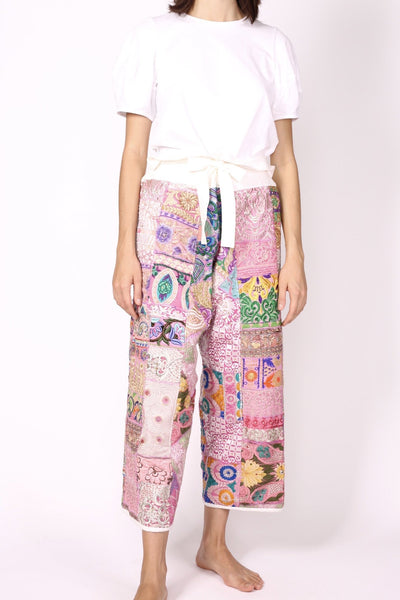 FISHERMAN PANTS EMBROIDERED PATCHWORK GIVA - MOMO NEW YORK