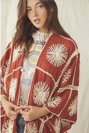 FLORA CROCHET KIMONO X FREE PEOPLE - MOMO NEW YORK