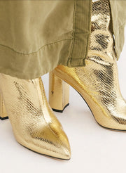 Gold Good Fortunate Tall Boots MOMONEWYORK