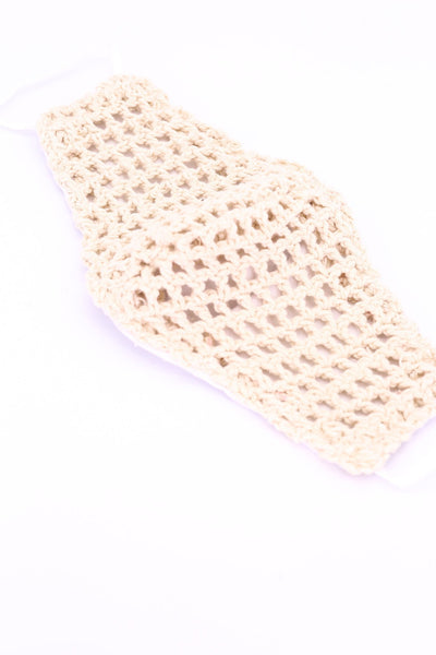HAND CROCHET FACE MASK REESE - MOMO NEW YORK