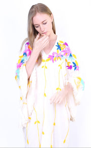 DON'T WANT SUMMER TO END EMBROIDERED KAFTAN KYRA MOMO NEW YORK