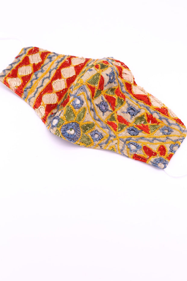 INDIAN EMBROIDERED FACE MASK LEEJ - MOMO NEW YORK