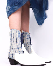 INDIGO HEMP LEATHER BOOTS DAKOTA MOMO NEW YORK